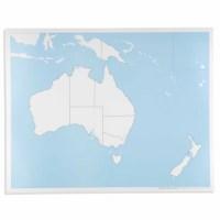 Kontrollkarte Australien - unbeschriftet