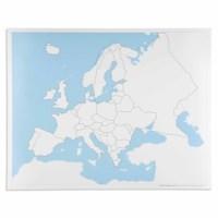 Kontrollkarte Europa - unbeschriftet