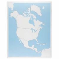 Kontrollkarte Nordamerika - unbeschriftet