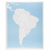 Kontrollkarte Südamerika - unbeschriftet
