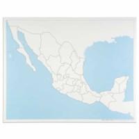 Kontrollkarte Mexiko: unbeschriftet
