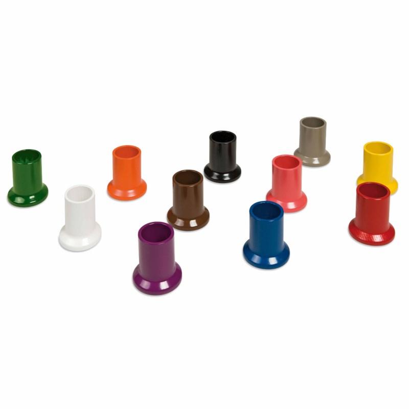 Satz mit 11 farbigen Bleistiftständern