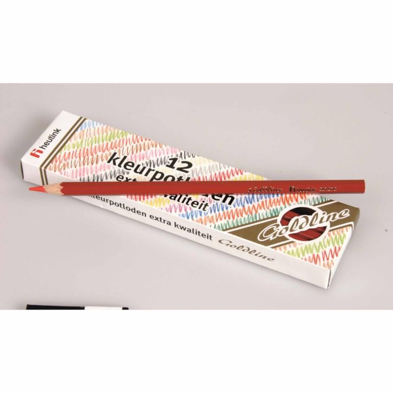 Buntstifte Hexagonal Goldline - Heutink - Karton mit 12 Stück - Dunkelrot