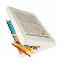 Jumbo Buntstifte Dreieck Goldline - Heutink - Karton mit 144 Stück - Farbig sortiert.