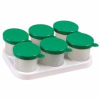 Kunststoffhalter mit 6 auslaufsichere Farbtöpfe 125 ml