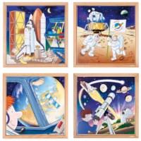 Raumfahrt Puzzles - 4er Set