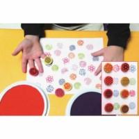Farbe- & Knetmasse Fingerdrucker - 8 Stück