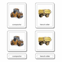 Construction Equipment 3 Part Cards