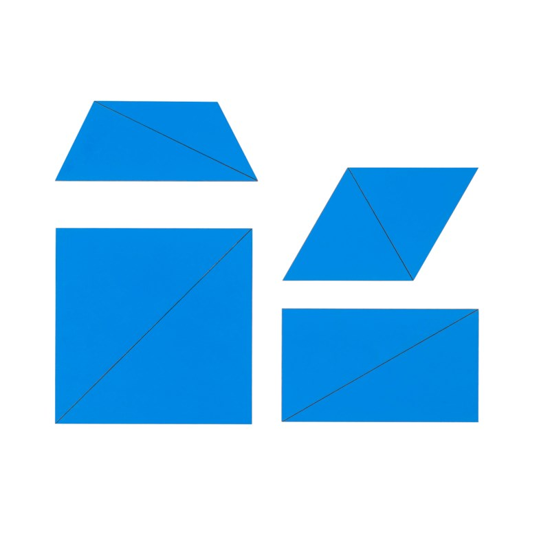 Set Of Blue Constructive Triangles