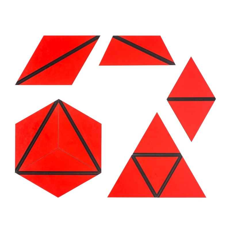 Set Of Red Constructive Triangles