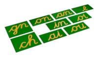 Double Sandpaper Letters: French Cursive