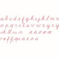 Medium Movable Alphabet: International Cursive - Red