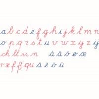 Wooden Movable Alphabet: International Cursive
