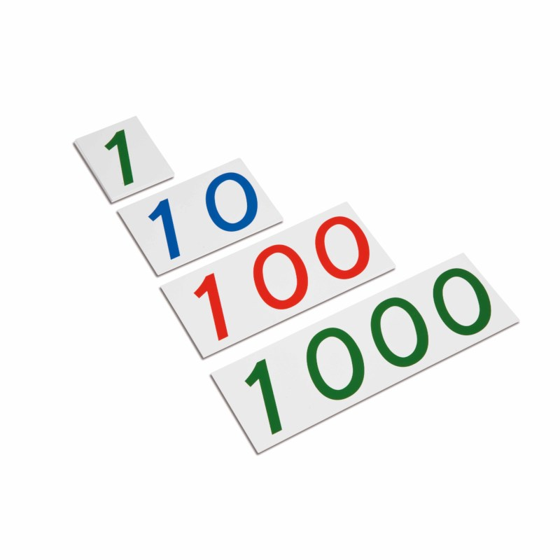 Large Number Cards 1–1000: Plastic