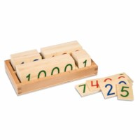 Small Number Cards 1-9000: Wood