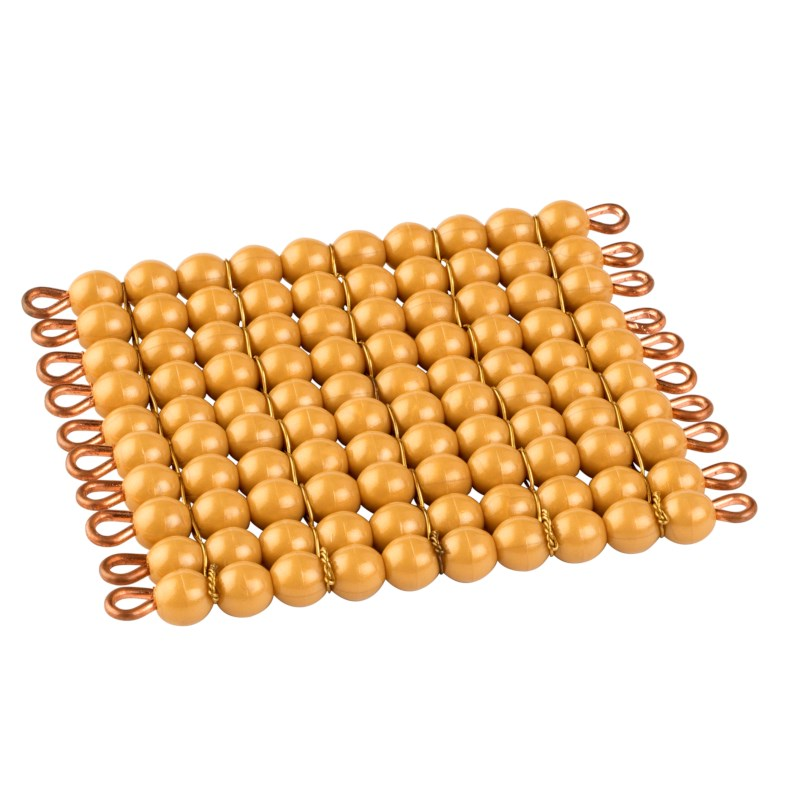 One Golden Bead Square Of 100: Individual Beads (Nylon)