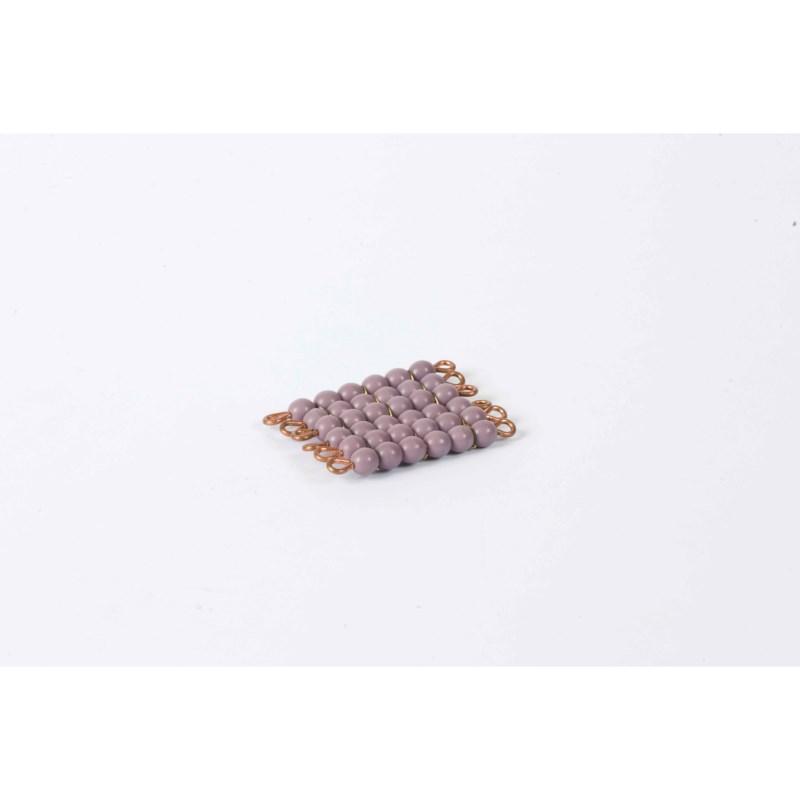 Individual Glass Bead Square Of 6: Purple