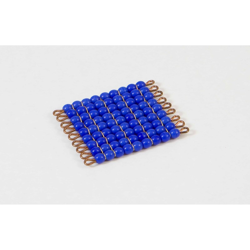 Individual Glass Bead Square Of 9: Dark Blue