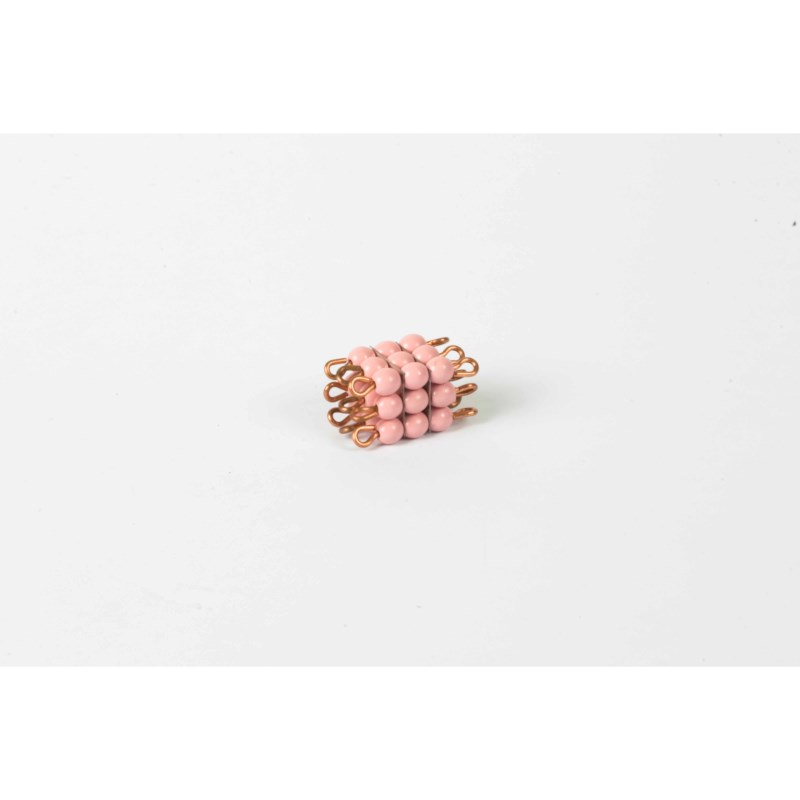 Individual Glass Bead Cube Of 3: Pink
