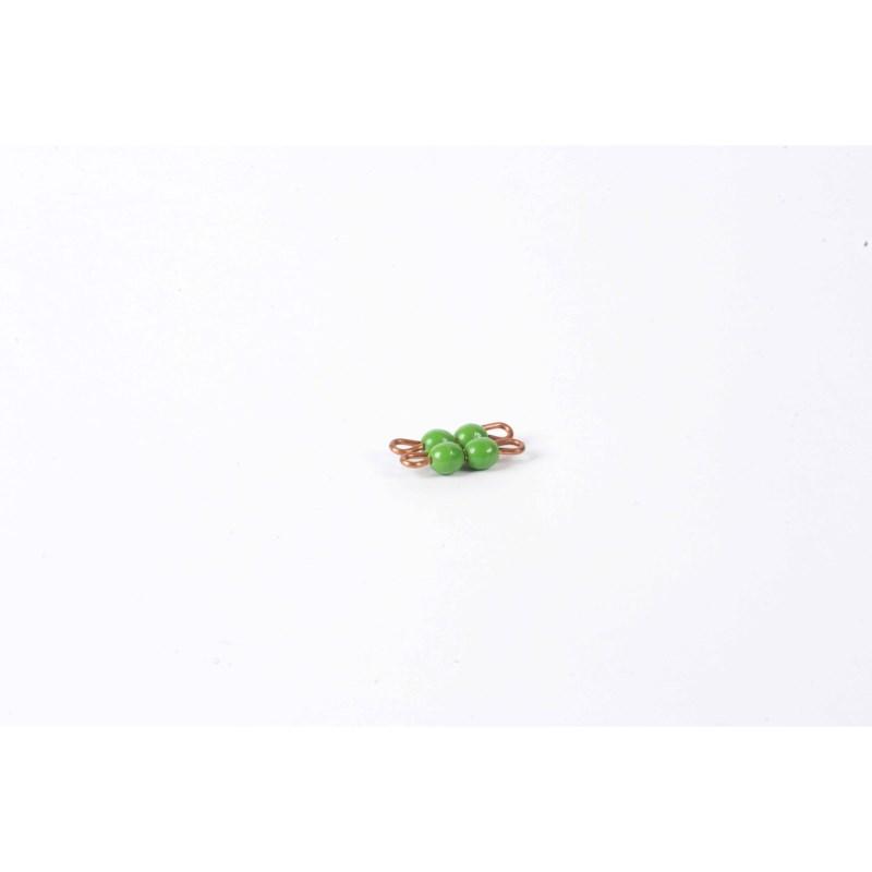 Individual Nylon Bead Square Of 2: Green