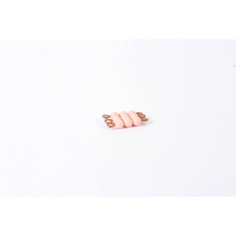 Individual Nylon Bead Square Of 3: Pink
