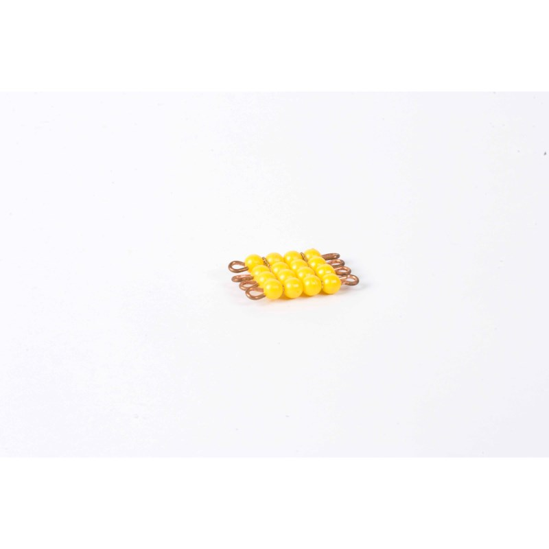 Individual Nylon Bead Square Of 4: Yellow