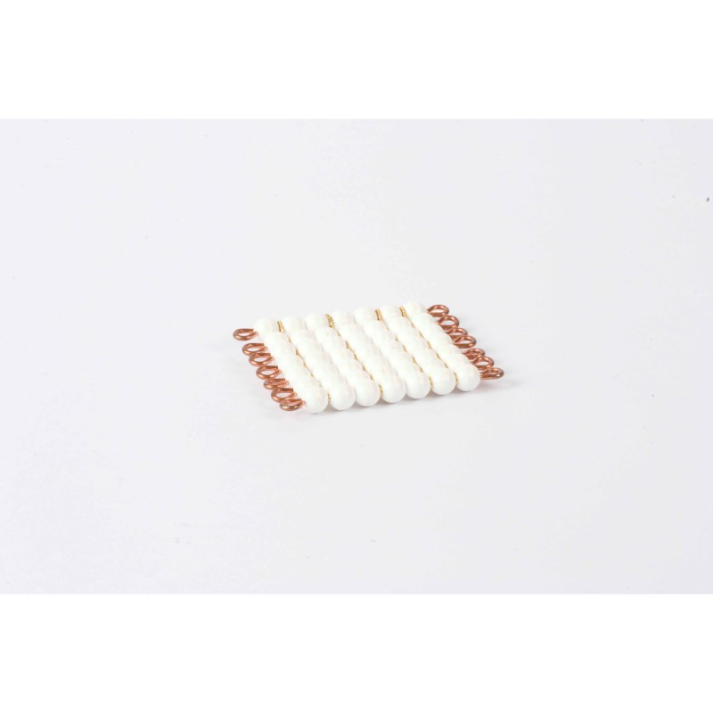 Individual Nylon Bead Square Of 7: White