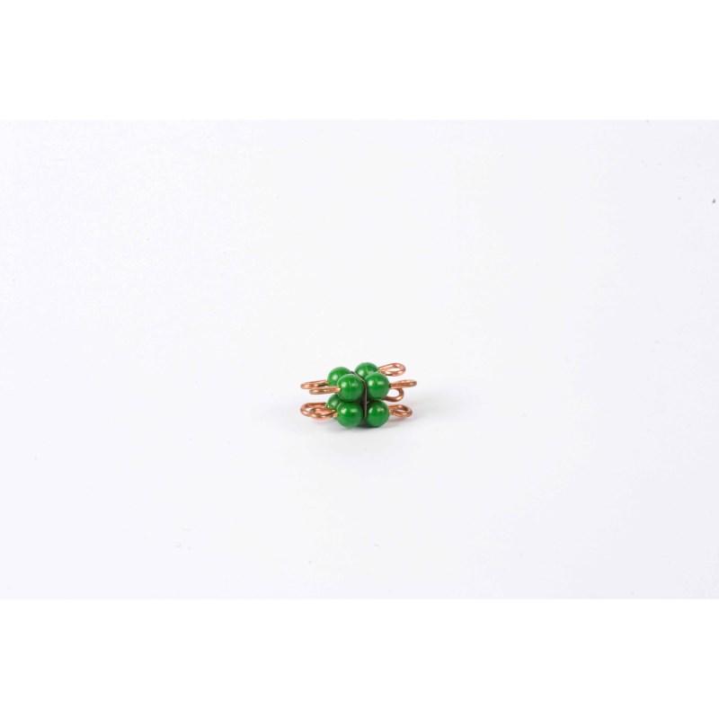 Individual Nylon Bead Cube Of 2: Green