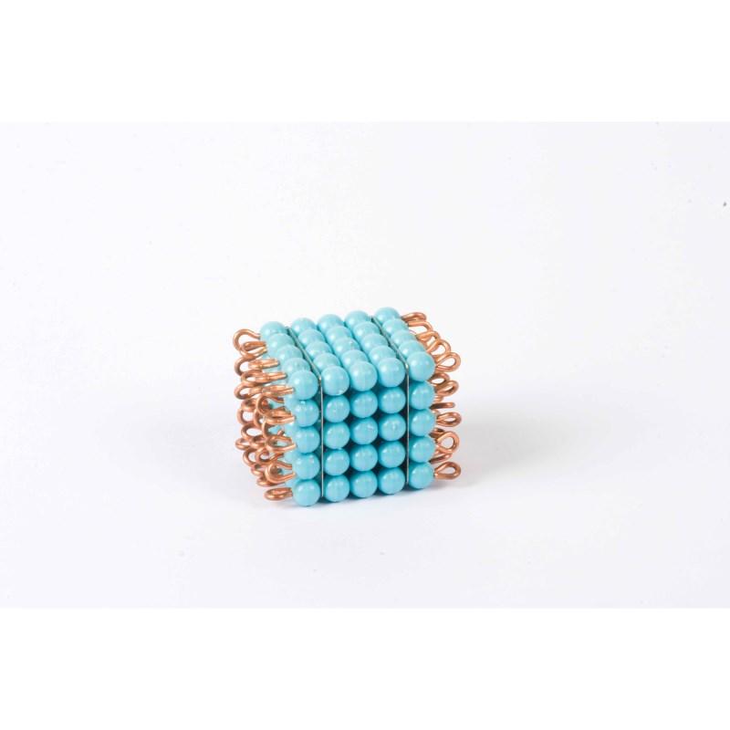 Individual Nylon Bead Cube Of 5: Light Blue