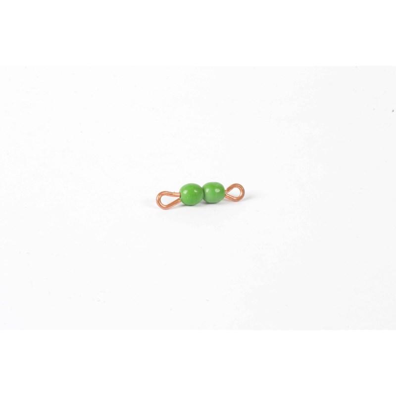 Individual Glass Bead Bar Of 2 : Green