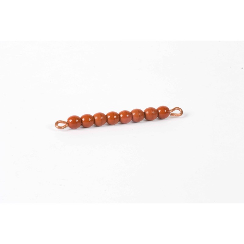 Individual Glass Bead Bar Of 8 : Brown