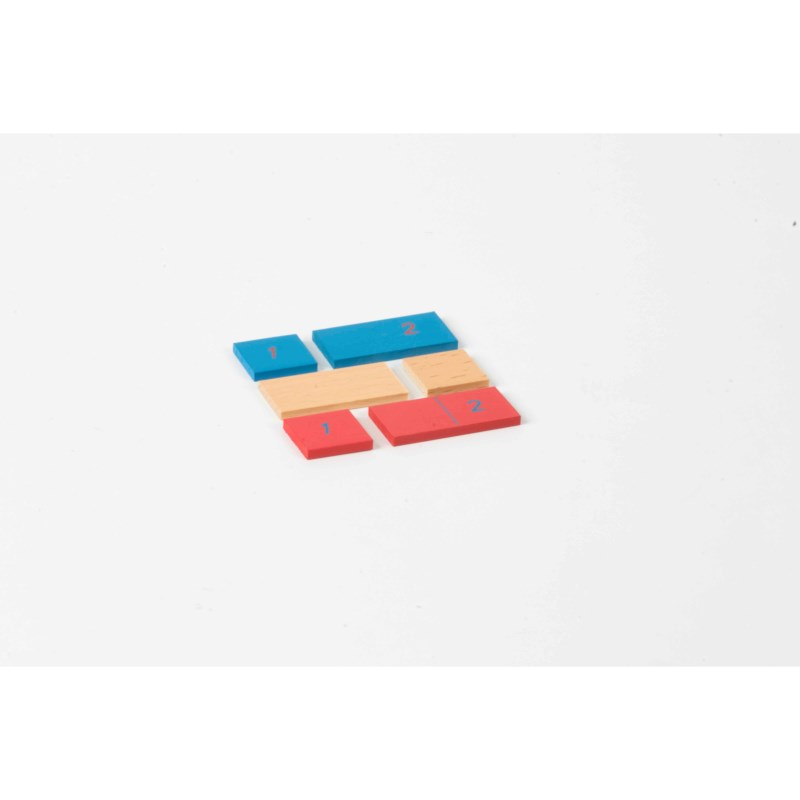 First 2 Strips For Addition / Subtraction Strip Board: Red / Blue / Natural