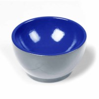 Wooden Cup: Gray / Blue