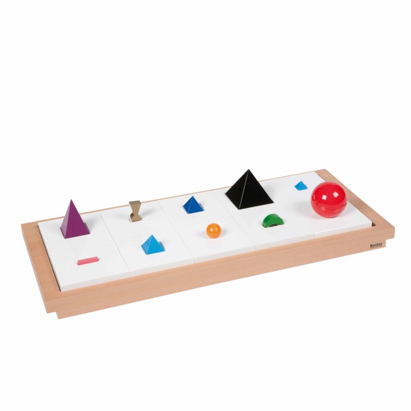 3D Wooden Grammar Symbols: Set Of 10 With Tray