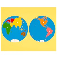 Puzzle Map: World Parts - Asia View