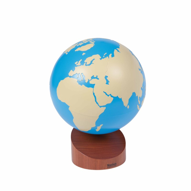 Globe Of Land And Water: Painted