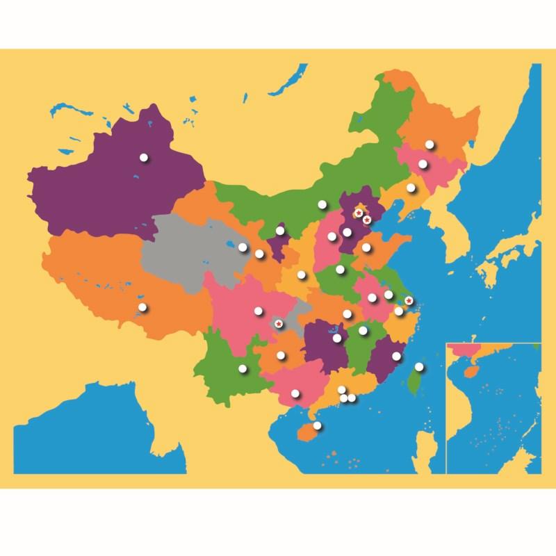 Puzzle Map: China