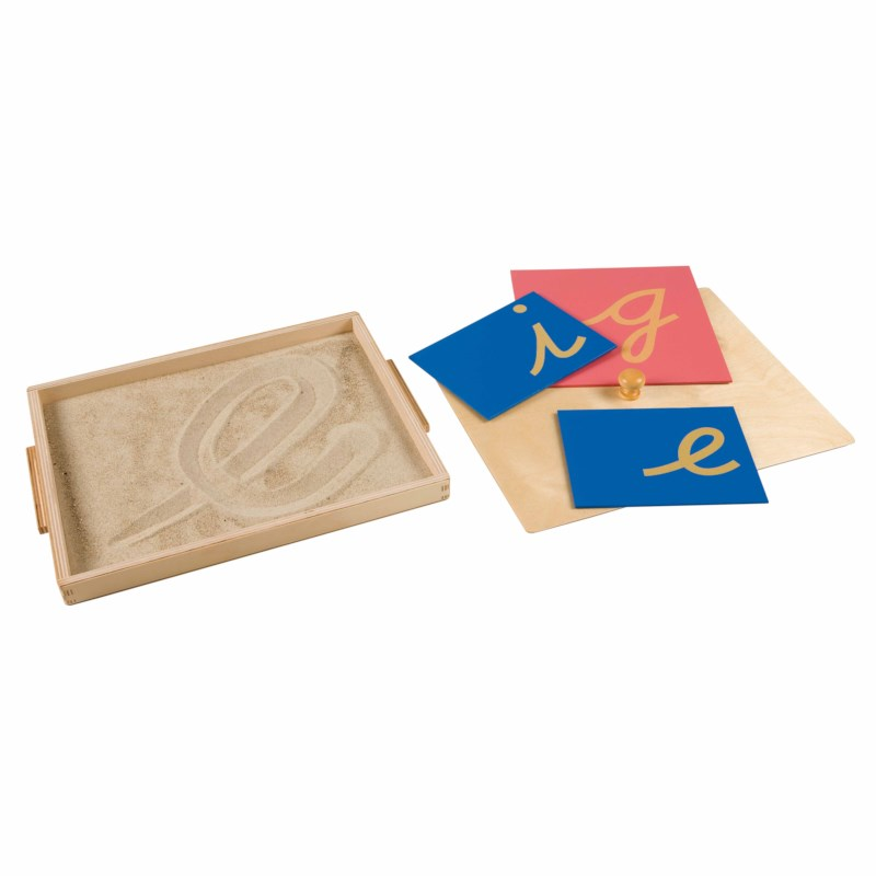 Sandpaper Letter Tracing Tray