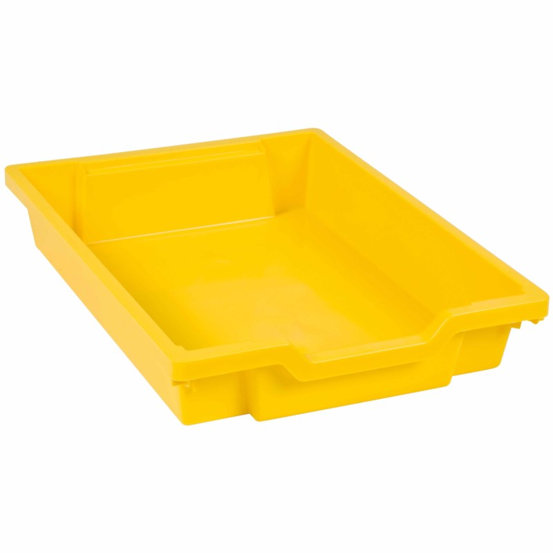 Tray including gliders: yellow (7 cm)
