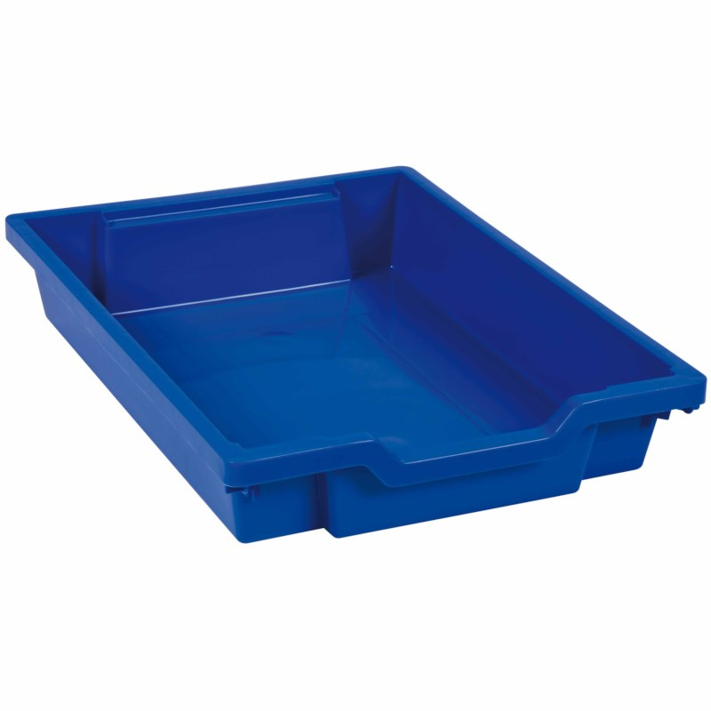 Tray including gliders: blue (7 cm)