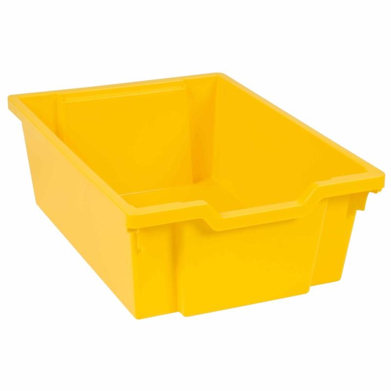 Tray including gliders: yellow (15 cm)
