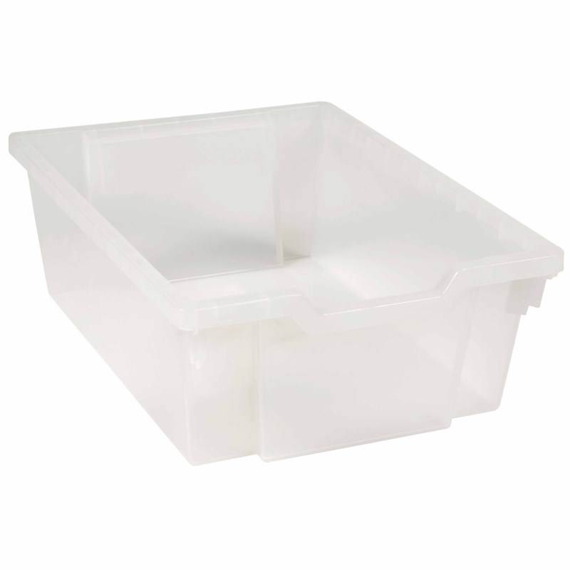Tray including gliders: transparent (15 cm)