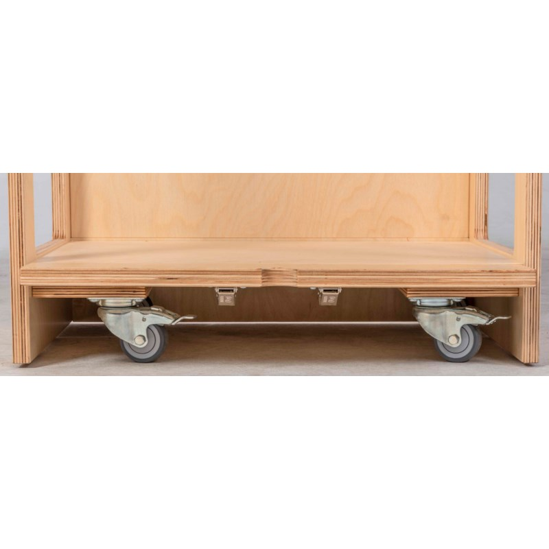 Set Of 4 Casters With Brakes