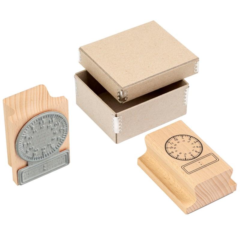 Clock stamp analogue - digital 24 hours