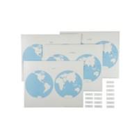 Hemisphere Maps And Labels Set