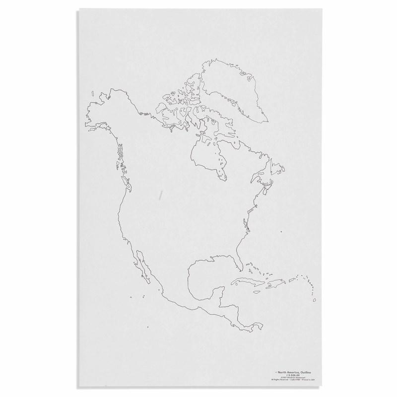 North America: Outline (50)