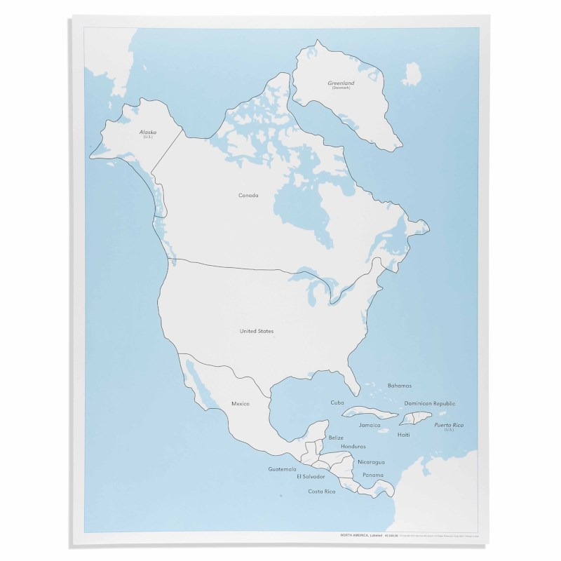 North America Control Map: Labeled