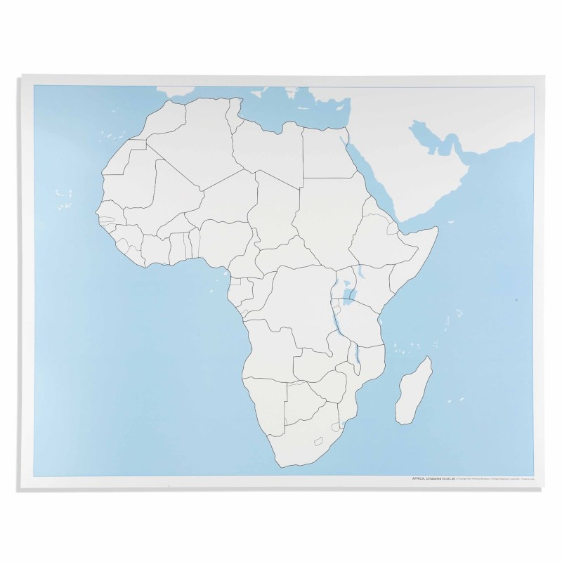 Africa Control Map: Unlabeled