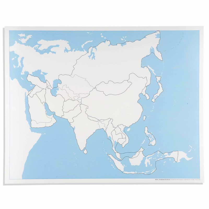 Asia Control Map: Unlabeled