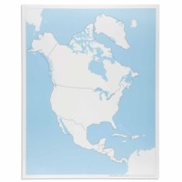 North America Control Map: Unlabeled